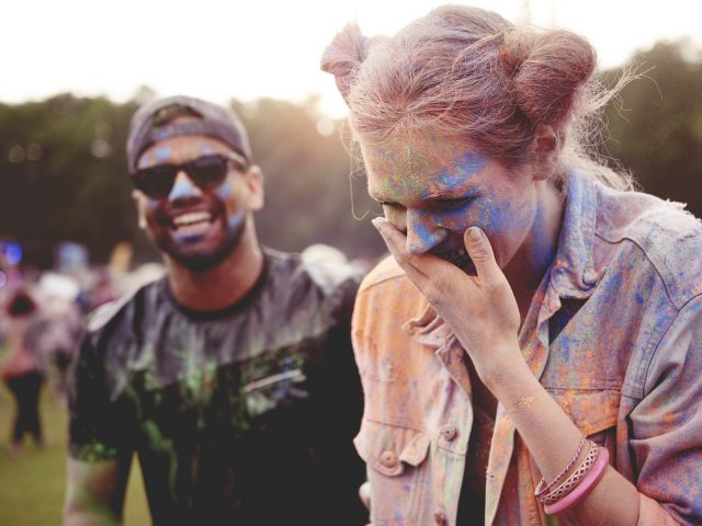 Funny moments at the holi festival